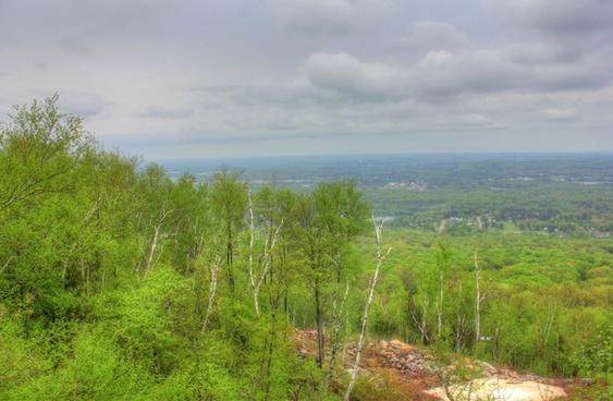 mountain view at rib mountain state park wisconsin