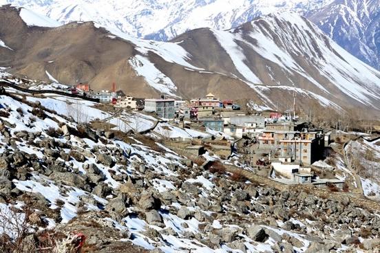mountain village mountains houses