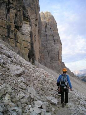 mountaineer climber three zinnen