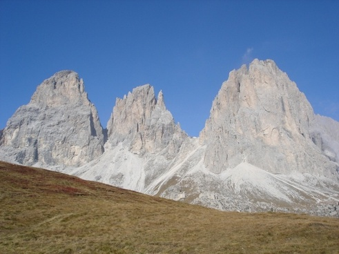 mountains dolomites hiking