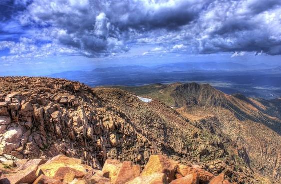 mountains from pikes peak colorado