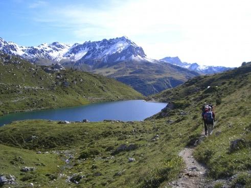 mountains landscape lakes