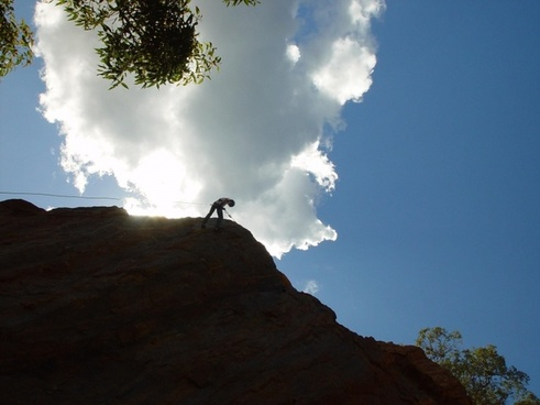 mountains man climbing