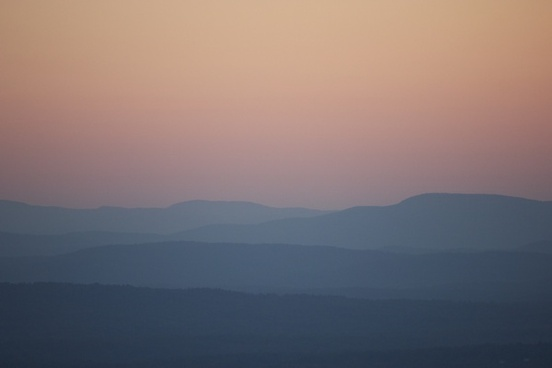 mountains sky sunset silhouette landscape