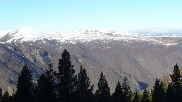 mountains snowy landscape