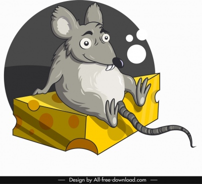 mouse animal icon comic cartoon character sketch