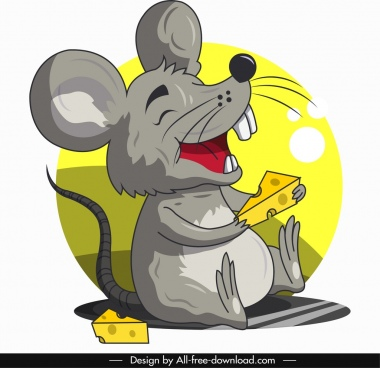 mouse animal icon funny cartoon character sketch
