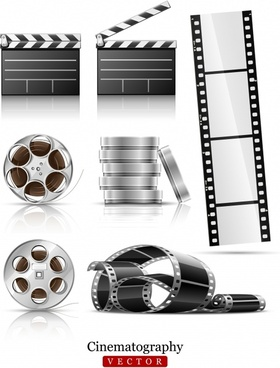 movie design elements modern tape reel strip sketch