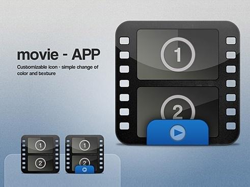 Movie Icon PSD