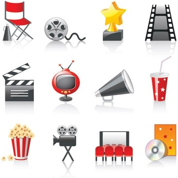 movie icon vector 3