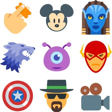 movie icons collection by icons8