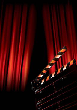 movie poster background art vector