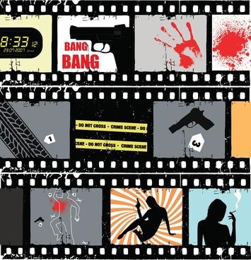 movie scene vector