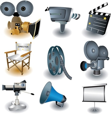 movie theme icon vector