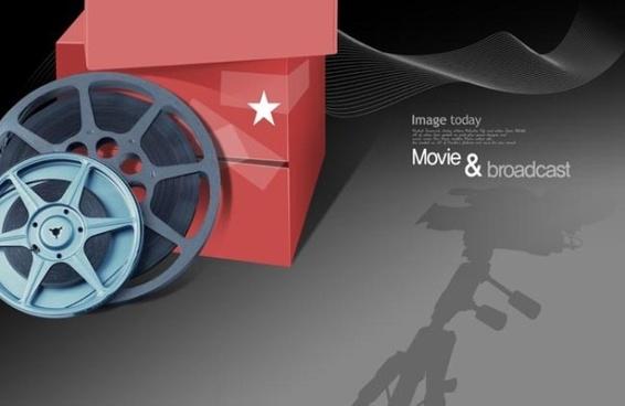 movie theme psd layered 1