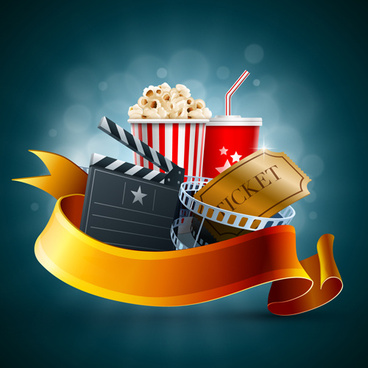 movie time design elements vector backgrounds