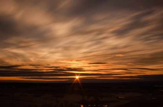 moving clouds of sunset at gibraltar rock wisconsin free stock photo