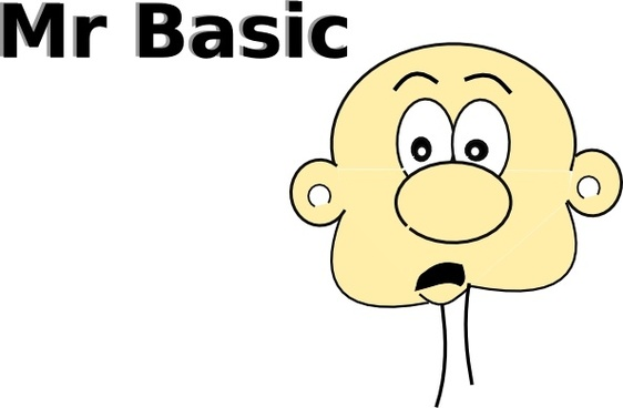 Mr Basic clip art