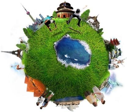 multibuilding crowd earth
