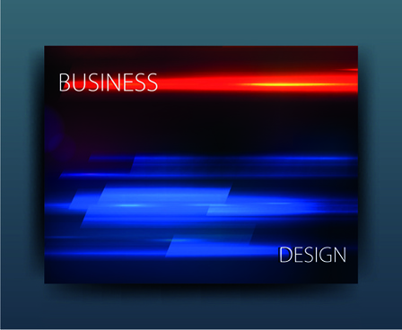 multicolor abstract business cover design vector