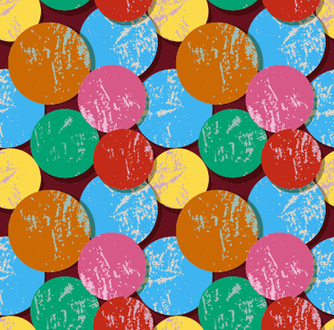 multicolor circle grunge vector pattern graphics