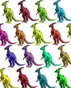 multicolor dinosaur background