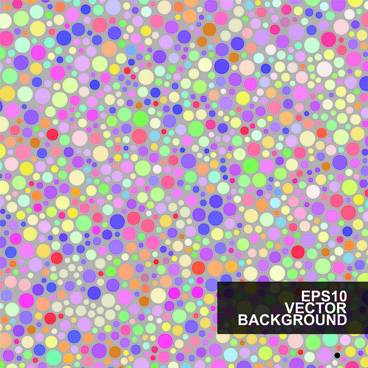 multicolor dot pattern vector background