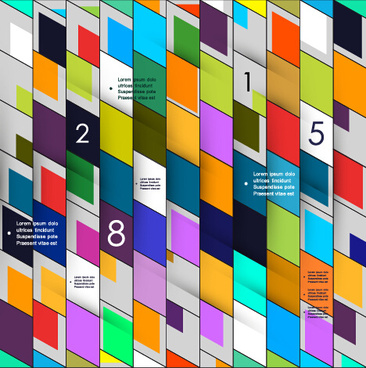 multicolor geometric business background vector