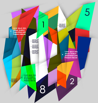 multicolor geometric business background vector
