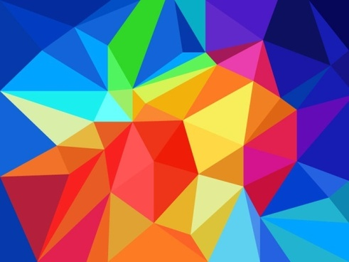 multicolor geometric shapes design vector background