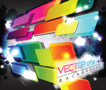 multicolor geometry elements backgrounds vector