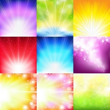 multicolor light art background vector