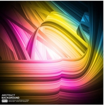 multicolor lines bright background vector