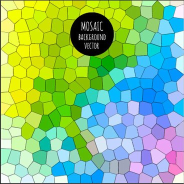 multicolor mosaic background graphics vector