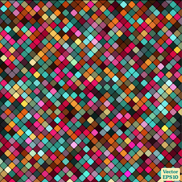 multicolor mosaic shiny pattern vector