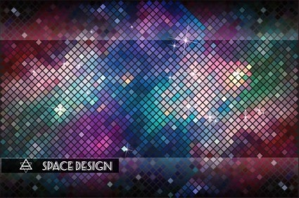 multicolor neon fashion background vector
