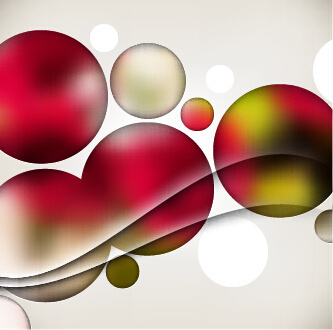 multicolor sphere with abstract background vector
