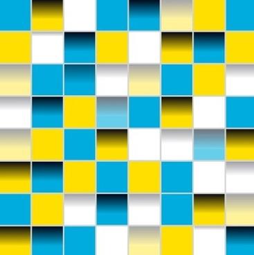 multicolor squares creative background vector set