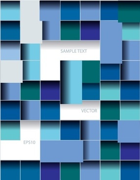 multicolor squares creative background vector set