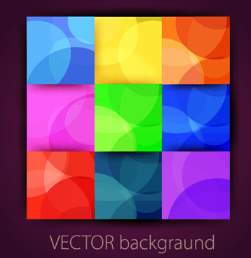 multicolor squares vector background art