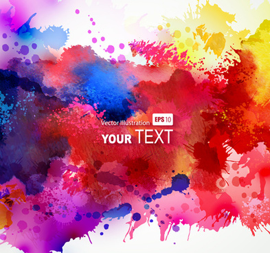 multicolor watercolor splash background illustration vector
