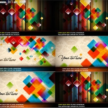decorative background templates modern colorful geometric decor