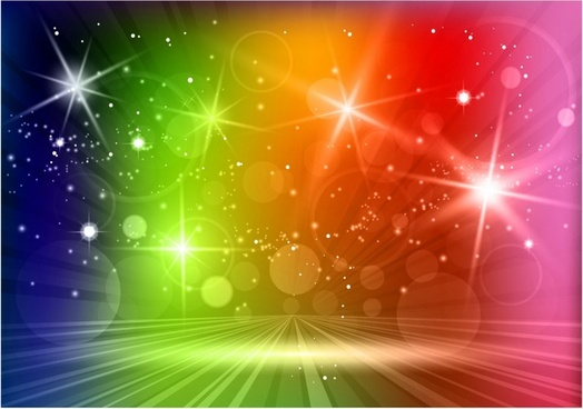 Multicolored light effects background