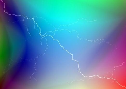 multicolored lightning