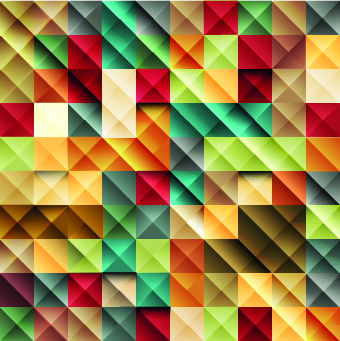 multicolored mosaics squares backgrounds