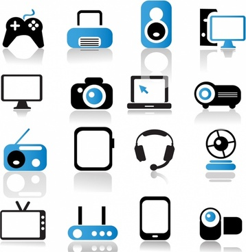 Multimedia Device Icons
