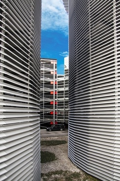 multi-storey car park lamellar steel