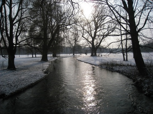 munich english garden winter