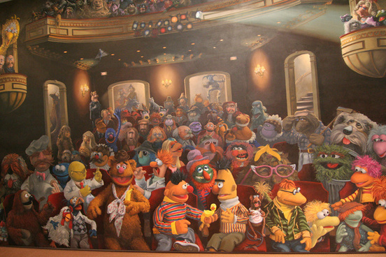 muppets mural jim henson studios