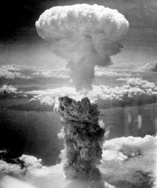 mushroom cloud atomic bomb nuclear explosion